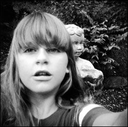 """I took a picture of myself with the statue in the back yard"" by Janet Stallard, Kentucky"